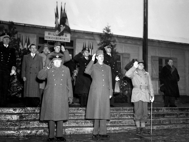 Churchill de Gaulle de Lattre