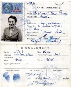 Fausse carte d'identité d'Anna Heidet