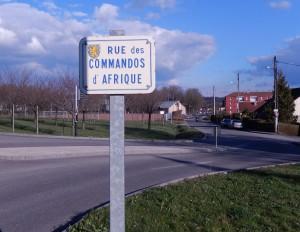 Rue des commandos d'Afrique à l'Arsot (Offemont) (photo : R. Bernat)
