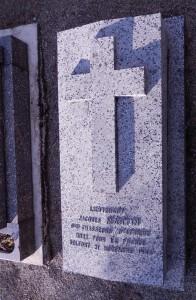Tombe du lieutenant Martin au cimetière des Mobiles à Belfort (photo : R. Bernat)