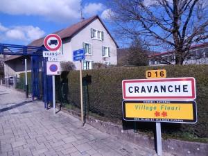 Rue des commandos d'Afrique à Cravanche (photo : R. Bernat)