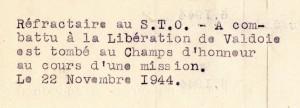 Extrait du registre de Victor Heidet concernant Albert Bischoff.