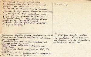 Extrait du registre de Victor Heidet concernant E. Novier et V. François