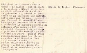 Extrait du registre de Victor Heidet concernant Marino Sassi.