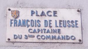 """"""" A la scierie du carrefour du Martinet, à l'entrée d'Offemont, lieu de départ du 3ème commando, à l'aube du 22 novembre 1944 avant qu'il ne soit décimé par les terribles combats du bois d'Arsot """" Photo : R. Bernat"""