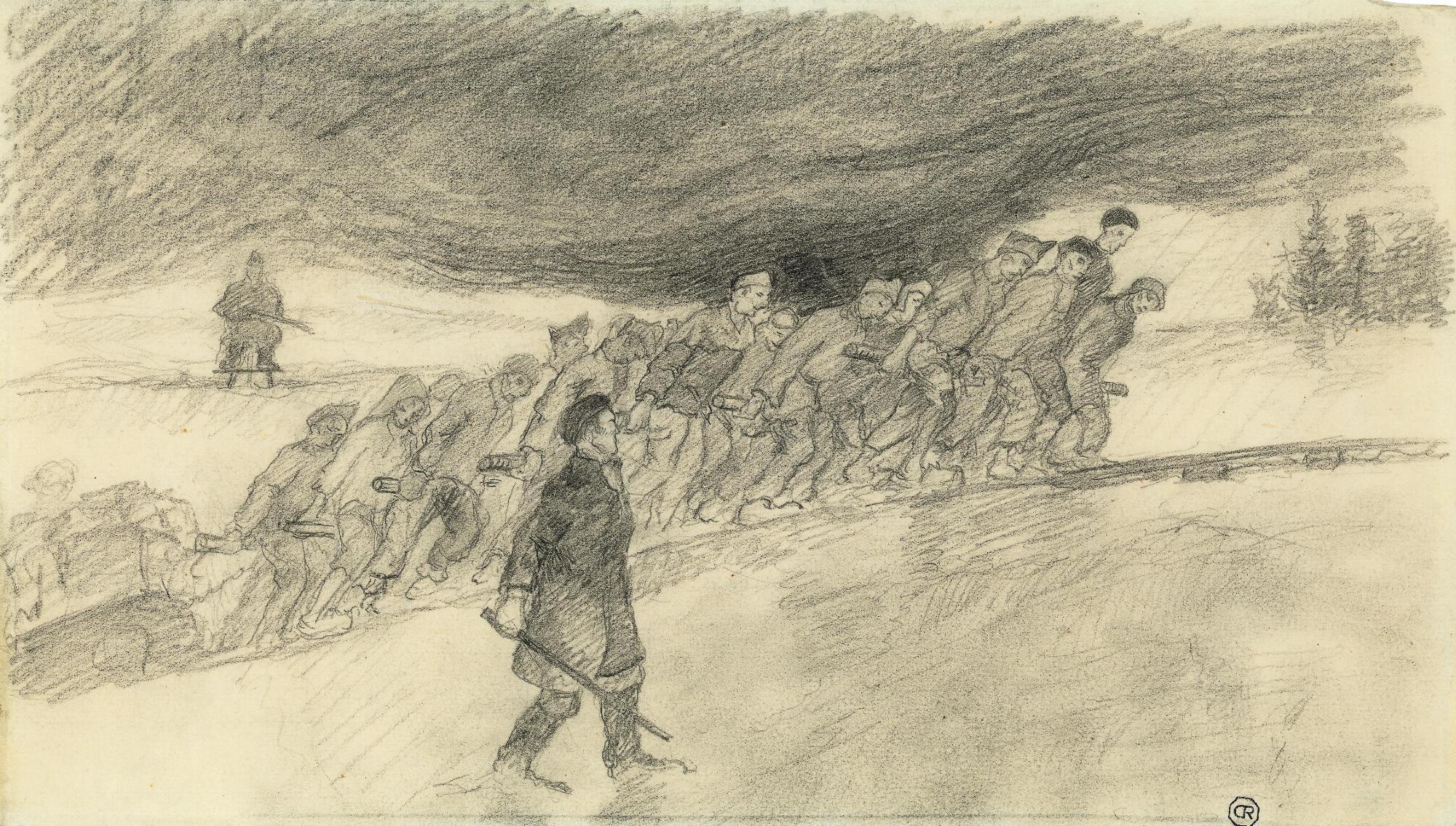 """""""La carrière, Buchenwald. Mai 1944""""  (Musée de la Résistance et de la Déportation, Besançon)"""