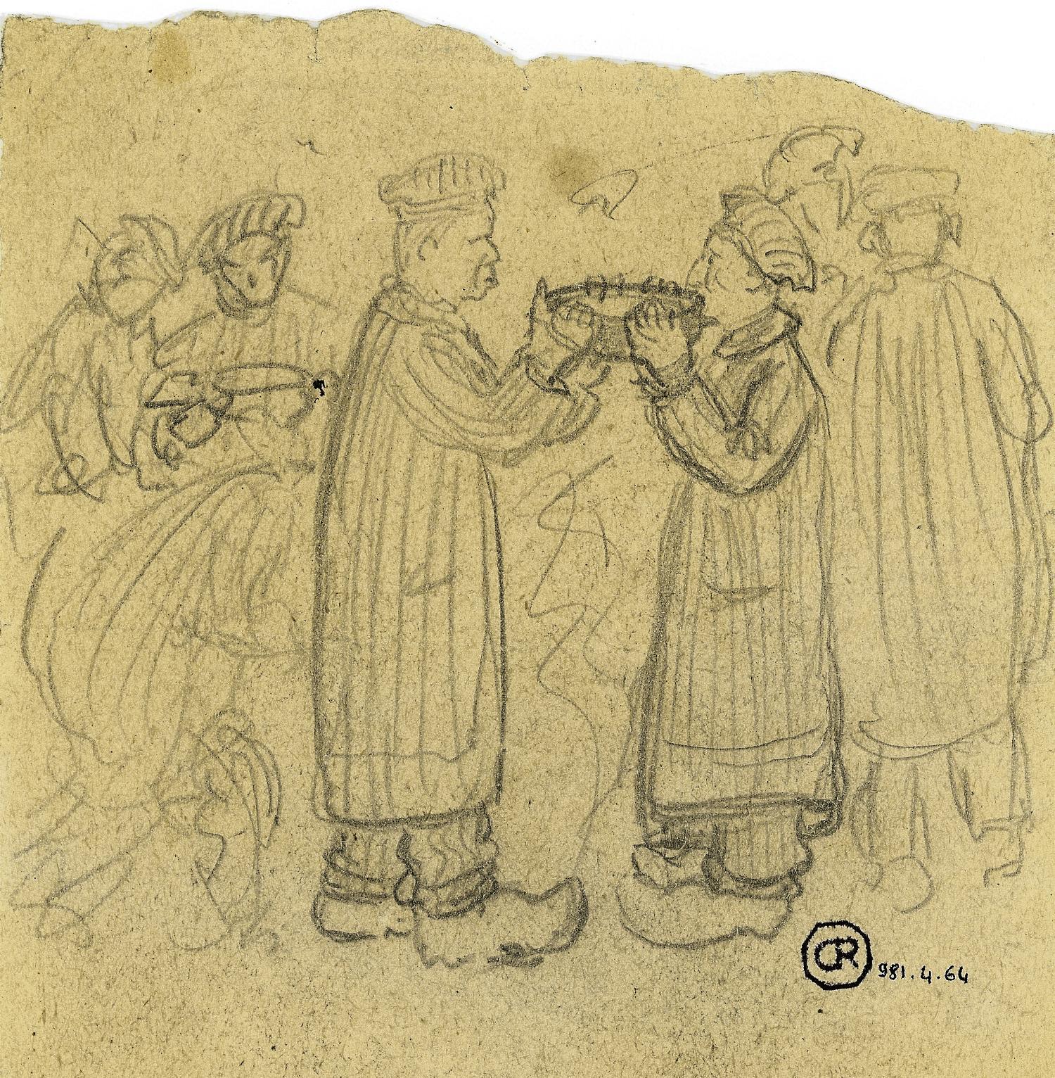 """""""Léon Delarbre et Emile Gehant. La dernière soupe à Auschwitz""""  (Musée de la Résistance et de la Déportation, Besançon)"""