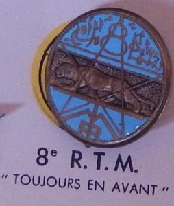 Insigne du 8ème Régiment des Tirailleurs Marocians (Coll. privée : Jocelyn Cametti)