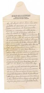 Carte de correspondance d'un prisonnier dans un stalag. (Fonds privé R.Bernat)