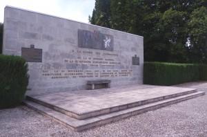 Monument à la 5ème DM et à la 2ème DIM à Arcey dans le Doubs (photo : R. Bernat)