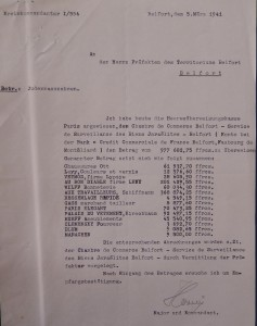 Sommes évaluant commerces juifs Belfort All .