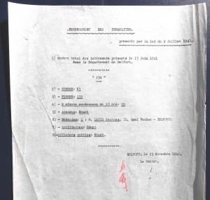recensement israelites 1941