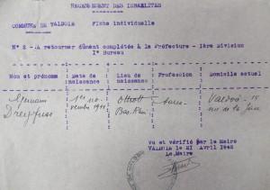 DreyfussGermaineArrivéeValdoie21Avril1942