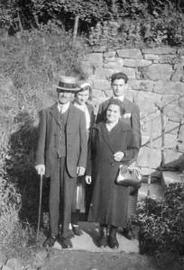 001b abraham et mélanie 1931 avec Germaine et René