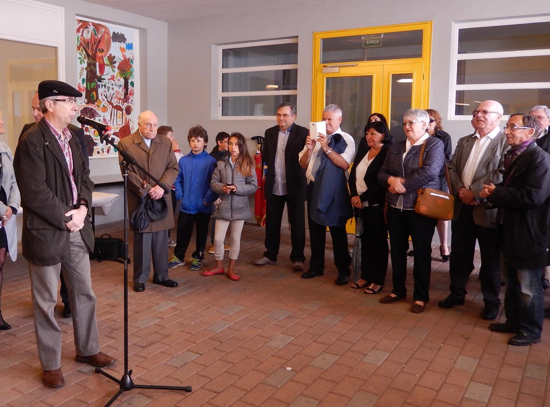 M. Laurent Hofnung, Président de la Communauté juive de Belfort, se félicite de cette initiative qui permet de dénoncer l'antisémitisme toujours présent.